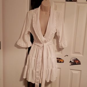 "Short ruffle ""The Bride"" robe"